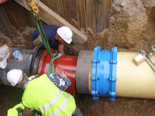 réseaux d'eau potable et raccordement à Bordeaux par Sobebo