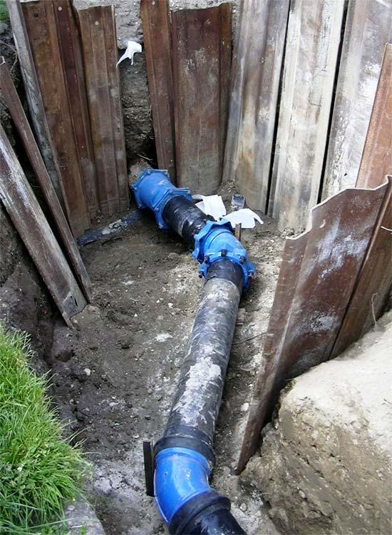 canalisation d'eau potable aux quinconces sobebo